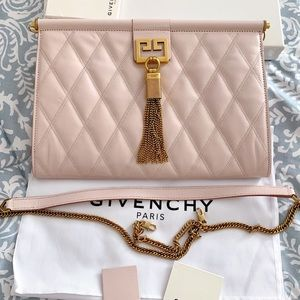 NWT Givenchy Medium Quilted Convertible Clutch Bag
